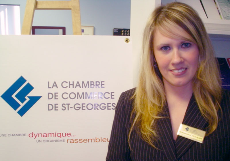Sabrina gagn quitte la chambre de commerce de saint for Chambre de commerce edmundston