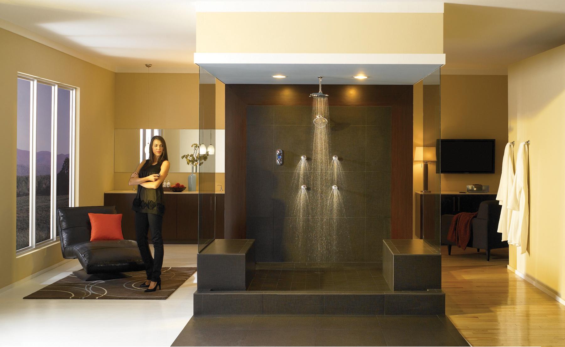 Une douche exceptionnelle pour une salle de bains - Douche high tech ...