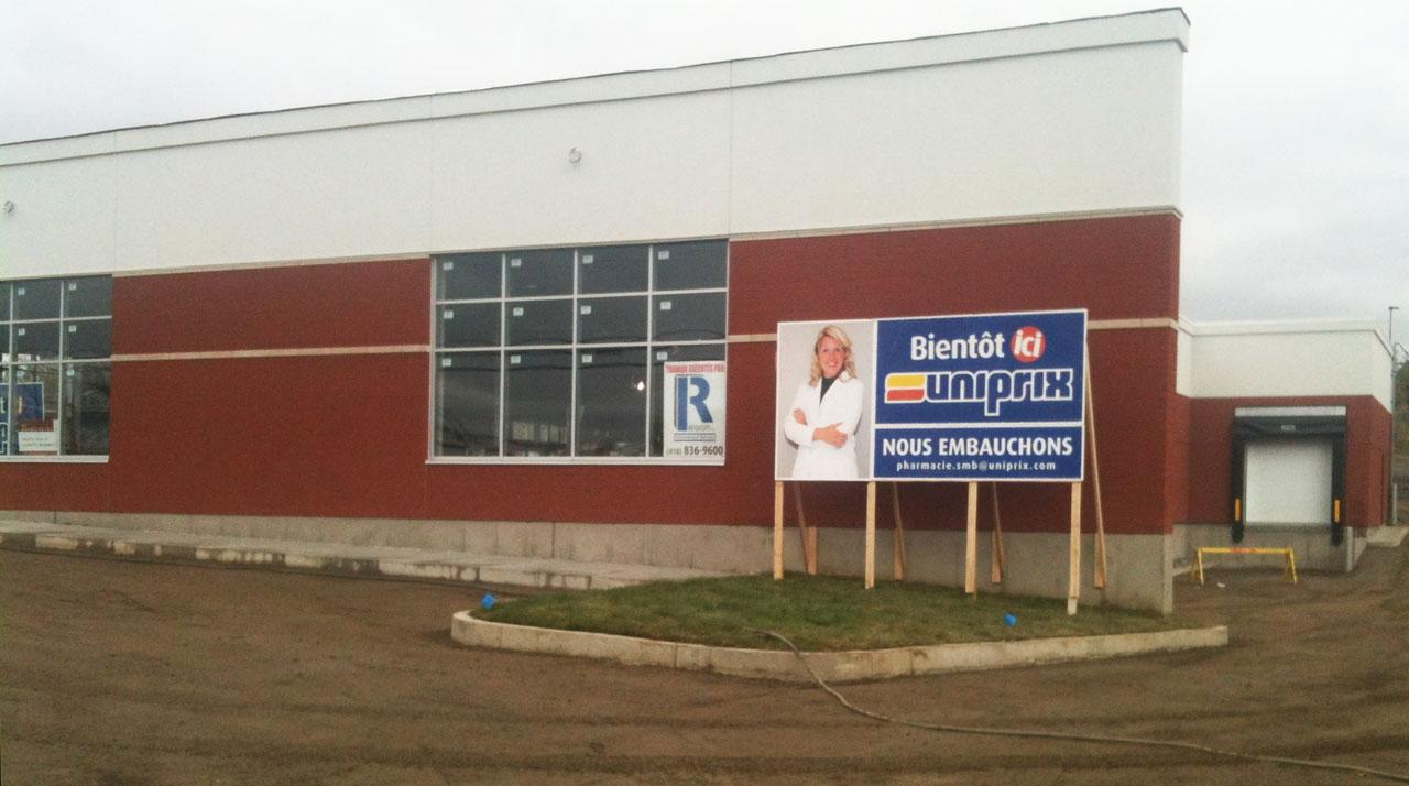 Une nouvelle pharmacie uniprix ouvrira ses portes sainte for Porte fenetre boulet sorel tracy