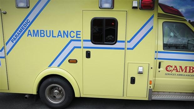 Accident de la route mortel à Saint-Gédéon-de-Beauce