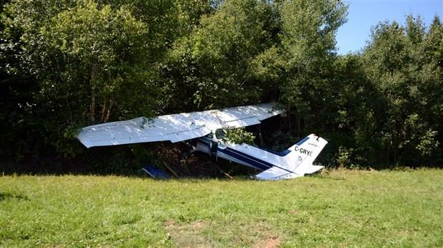 Un avion Cessna s'écrase dans un champ de Sainte-Marie
