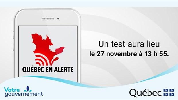 Test d'alerte cet après-midi — Pas de panique