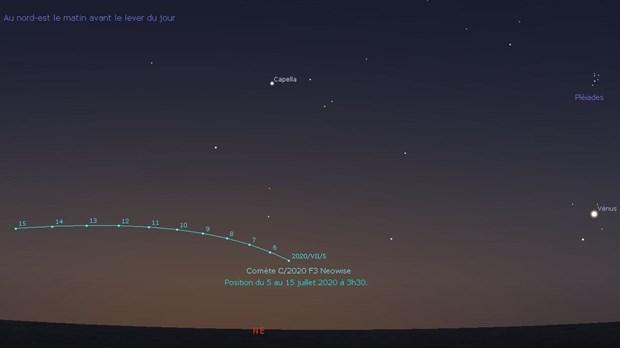 EN IMAGES. La comète Neowise aperçue dans le ciel d'Etretat