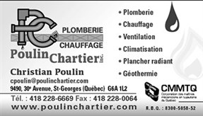 Plomberie Chauffage Poulin & Chartier Inc