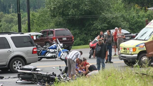 un triste accident de moto fait deux bless s graves saint g d on. Black Bedroom Furniture Sets. Home Design Ideas