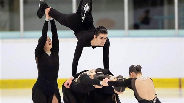 Patinage synchronisé : Édouard Tremblay offre une belle performance en Europe